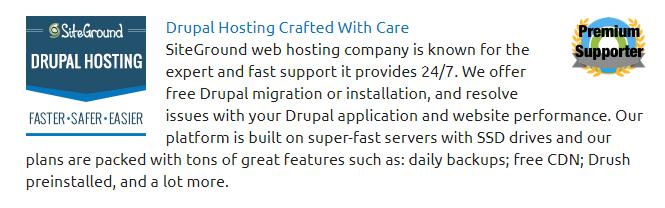 Drupal Siteground Empfehlung